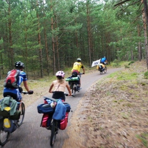 Bike ride on the Curonian Spit