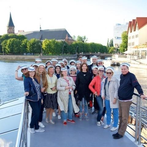 конференция и вояж Калининград - Балтийск на судне Самбия